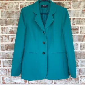 Jones Wear Teal Classic Fall Blazer Jacket